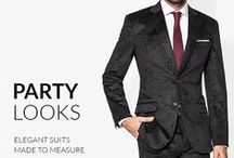 Party Looks / Buy Men's outfits, tuxedos and suits for Christmas Party on Tailor4Less, your online tailor store. Make sure to wear a perfect fit for Christmas and New Year's Eve. Free shipping in 2 weeks.