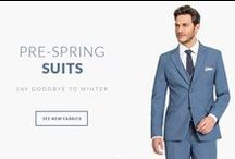 Pre-Spring Suits / Say Goodbye to Winter with New Spring fabrics. Take a look at our new suits and customize them to fit your own style: http://www.tailor4less.com/en-us/men/collections/prespring-suits