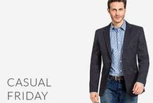 Casual Friday Blazers / Don't you know about Casual Friday yet? How to dress on casual Friday & stay office appropriate: http://www.tailor4less.com/en-us/men/collections/casual-friday-blazers
