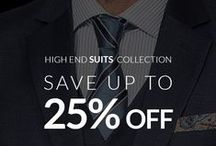 High End Suits / A selection of our Finest Fabrics. Take advantage of the discount in Vitale Barberis, Premium and Executive Suits. Our highest quality fabrics on sale!