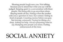 Anxiety / Because there are too many people with anxiety. Including myself. It kills me. ~ since March 2017