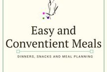 Easy and Convenient Meals / Simple and delicious recipes, meals and snacks for easy meal planning wherever you are. Includes a lot of crockpot and slow cooker recipes!
