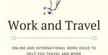Work and Travel / Information to help you travel and work. All information about working online as a #digitalnomad a #sidehustle to pay for your travels or an international job as an #exoat.