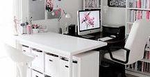 {Bureau et atelier} / #organisation et #déco pour bureau à la maison et atelier de travail. stephanieforgues.com