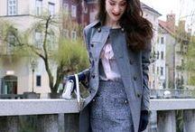 Tweed / Tweedy skirt and tweedy jackets. Chanel inspired. #tweed #tweedjacket #tweedskirt #chanel #tweedy