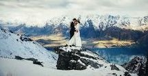 The Mountains are Calling / ...and I must go.  Beautiful mountain wedding photos.  Maybe it will inspire you to get married in the mountains?  If so...take me with! :)