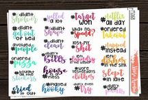 Journaling stickers - daily and weekly