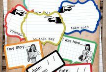 Journaling - printable cards
