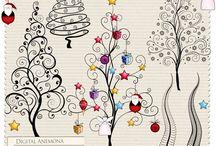drawing - christmas things