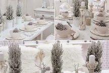 Déco Table Noël - Blanc