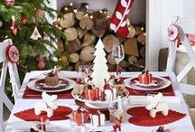 Déco Table Noël - rouge