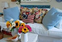 COTTAGE STYLE / Love the look of cottages whether English, French, Seaside or otherwise and the things they are decorated with. / by Annette Biering