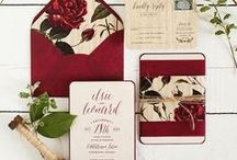 Red Hot Wedding Magic / Red & black, burgundy & ivory, garnet & white, cranberry...all exotic wedding combinations Im fascinated with!