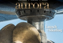 Aurora covers / Covers from the magazine produced by the Marketing and Communications department of UAF.