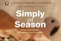 World Community Cookbooks / Mennonite Central Committe, publishing through Herald Press presents these handy cookbooks! Simply In Season, Extending the Table, and More-with-Less Cookbook.