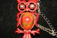 OWL JEWELRY / This is my take on OWL Jewelry some of these items I have made. Other items are also vintage or vintage reproductions. If I don't like it I wont sell it!  / by Genice Rill
