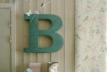 B FOR BIERING / Decor using the letter B / by Annette Biering