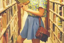 Books / She read books as one would breath; to fill up and live