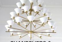 Chandeliers & Flush Mounts / Sculptural and modern lighting suitable for all styles and spaces.
