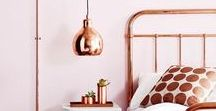 Rose Gold/Copper Home Decor / A fabulous interior design trend to look out for in 2017...