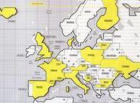 Mapa puzzle magnético Europa // Mapnético Original / El puzzle está diseñado para que puedas usarlo en tu Mapnético Original ya que el contorno de las naciones encaja perfectamente en este mapa, pero si quieres darle un uso más fresquito ¡también puedes utilizarlo para decorar tu nevera!