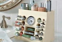 Everything has a PLACE :) / Get organized and feel at peace! Yes! Love it! / by Heidi Onken