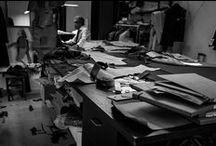 Atelier Santa Eulalia / Gracias al fotógrafo Eduardo Francés, podemos mostrar el lado más bello de la confección y de la sastrería de caballero.  Maravilloso trabajo el de nuestros colaboradores del atelier y también el del autor de las fotos, Eduardo Francés.