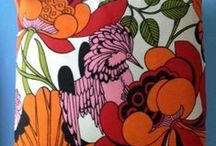 mid-century modern textiles + surface patterns / Vintage textile design and surface pattern design