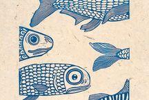 PRINTED / Woodcut, Lino or Stencil.