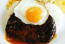 Yummy Locomoko / ヤミーロコモコ用ハンバーグを使った料理例