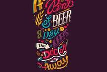 Beer Lettering / Handwritten, custommade and crafted letterings and typography works about beer.