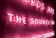 quotes and neons
