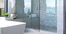 Bathroom / Colors: teal, grey, white