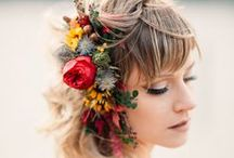 Hair Flowers / Hair accessories made with fresh flowers for weddings, prom and other special occasions.