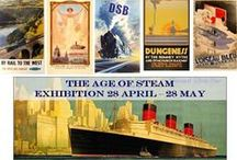 The Age of Steam Exhibition at AntikBar Gallery, 404 King's Road, London / Our first exhibition at our recently opened gallery in London showcases a variety of stunning ocean liner and railway posters from around the world, primarily from the 1920-30s; the Golden Age of Travel. Exhibition: 28 April to 28 May. Free entry. Catalogue: £5. The History of Cunard: guest speaker talk by Eric Flounders on Thursday 26 May. Info: http://www.antikbar.co.uk/news_and_events/detail/?nId=160. We look forward to seeing you! AntikBar.co.uk