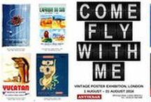 Come Fly With Me - Summer Exhibition / Our exhibition this August will showcase a variety of flight-related travel, advertising and propaganda posters from around the world. These original vintage posters truly capture the essence of travel in the earlier days of flying, many featuring airlines that no longer exist today. Step back in time and travel the world in style this summer through the stunning artwork that will be on display at our 2016 summer exhibition. AntikBar.co.uk