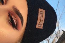 orange makeup lookz