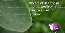 Kindness Quotes / Be An Inspirer - Spread the Inspiration Visit - www.beaninspirer.com for more Inspirational Articles.
