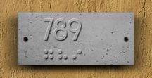 ↘ Concrete Yönlendirme - Signage / Beton Yönlendirme Ürünleri Concrete Signage Products