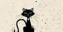 A-Кот Art / Картинки, рисунки, иллюстрации с кошками