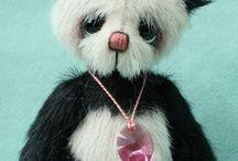 Teddy bears and dolls