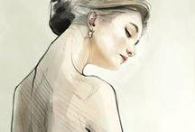 ˚ * 。紅Picturesque Fems顏★* 。 • ˚ / beautiful illustrations of women