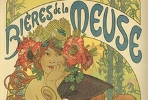 Art Nouveau Posters / Many of the earliest advertising posters fit into the category of Art Nouveau, a style characterized by flowing lines and ornamentation. Artists gilded their posters with flowers, leaves, seaweed and other elements pulled from nature.