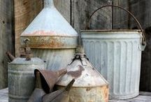 Galvanized Gardens / Galvanzied containers make great planters, and are a great way to repurpose these vintage finds