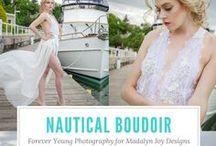 nautical boudoir session / #outdoor #boudoir #nautical #foreveryoungphotoswi #MadalynJoyDesigns #boardwalk #PorWashingtonWI #photography #ideas #poses