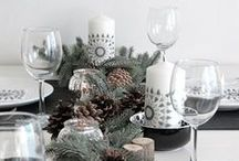 Christmas Dinner / Recipes and decorating ideas for Christmas dinner - winter themed