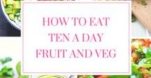 Ten A Day   Fruit & Vegetables / Ten a day - the latest research on nutrition and the impact it has on health, by Imperial College London, says we should move up from five a day to ten a day portions of fruit and vegetables. Here's a selection of fruit and vegetable laden recipes to inspire you to include more fruit and vegetables in your daily meals. 10 a day fruit and veg rocks!