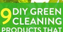 Green Cleaning / Green cleaning products, how to use natural products from your pantry to create DIY cleaning products, tips on natural products that help you live a more zero waste lifestyle, reduce the amount of plastic you use and have a happy, green home.