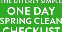 Spring Cleaning Checklists / Spring cleaning checklists with step by step cleaning routines to get every room in your house spring clean fresh.