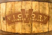 Custom Barrel Table (Victory Brewing) / Custom built beer barrel table that we designed & produced for Victory Beer.